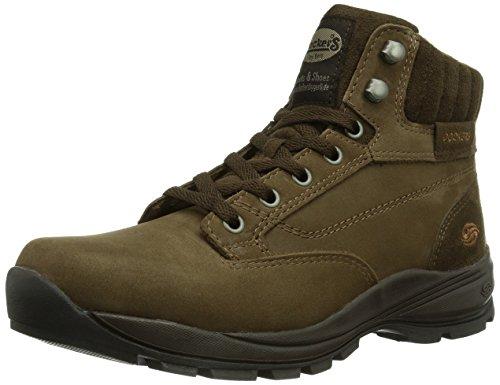 Dockers 331515-003020, Sneaker alta Uomo, Marrone (Braun (cafe 020)), 43