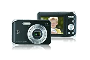 GE General Electric J1250 Digitalkamera (12 Megapixel, 5-fach opt. Zoom, 6,9 cm Display (2,7-Zoll), Auto-Panorama, Bildstabilisator, Li-Ion Akku) schwarz