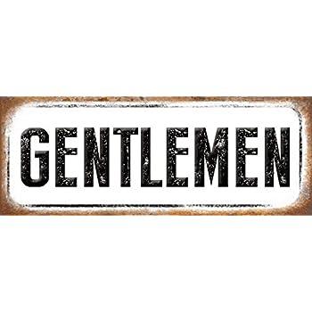 Gentlemen Metal Sign, Restroom, Retro, Rustic, Vintage