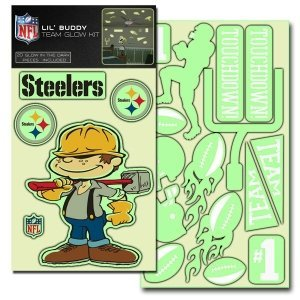 "NFL Pittsburgh Steelers Lil Buddy ""Glow In The Dark"" Decal Kit (Pack of 20) at Amazon.com"