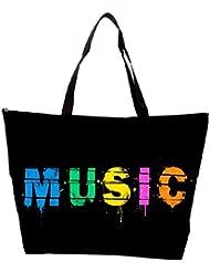 Snoogg Music Digital Designer Waterproof Bag Made Of High Strength Nylon