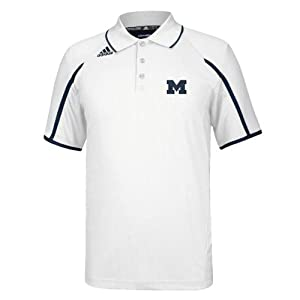 Michigan Wolverines Sideline Adidas White Polo by adidas