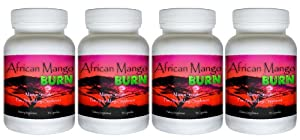 African Mango Burn 4 Bottles - The Ultimate African Mango Fat Burning Supplement Pure Irvingia Gabonensis Weight Loss Appetite Suppressing Diet Pill from African Mango Burn