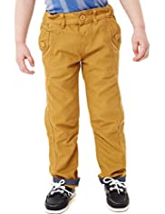 Limited Pure Cotton Bow Leg Chinos