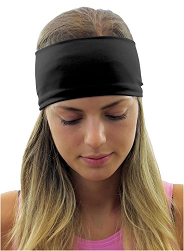 ice cream 5pk Classic Fitness Headbands (Black, Navy Blue, Aqua Blue, Red and Olive Green) (Ice Cream Athletics compare prices)