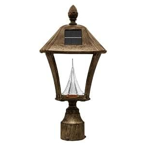 Amazon.com : Gama Sonic Baytown Solar Outdoor LED Light Fixture, 3