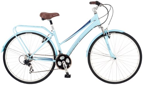 Cheapest Prices! Schwinn Women's Community 700c Hybrid Bicycle, Light Blue, 16-Inch Frame
