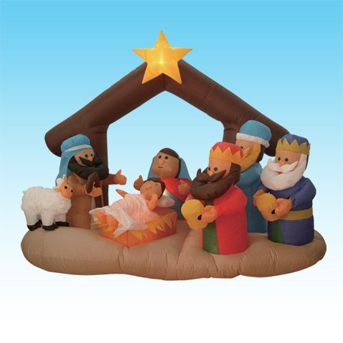 Inflatable Nativity Scene front-225049