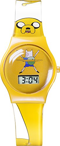 adventure-time-childrens-quartz-watch-with-yellow-dial-digital-display-and-yellow-plastic-strap-adt3