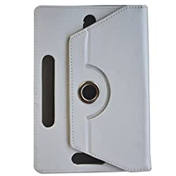 G-STAR Universal Tablet Synthetic Leather Flip Cover For Any 7 inch Tablet - White