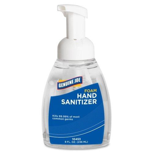 Wholesale CASE of 20 - Genuine Joe Foaming Hand Sanitizer-Foaming Hand Sanitizer Pump Bottle 8 oz Lavender Scent