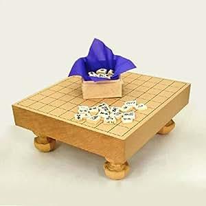 将棋セット 新桂2寸足付将棋盤と白椿上彫駒のセット