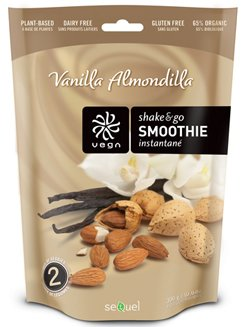 Sequel Vega Whole Food Shake & Go Smoothie - Vanilla Almondilla - 300g - Powder