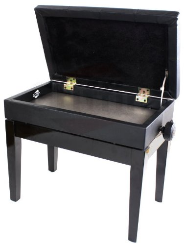 Premium Adjustable Antique Piano Bench By Griffin Black