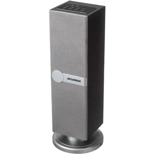 Sylvania Sp269-Silver Bluetooth Floor Standing Tower Speaker