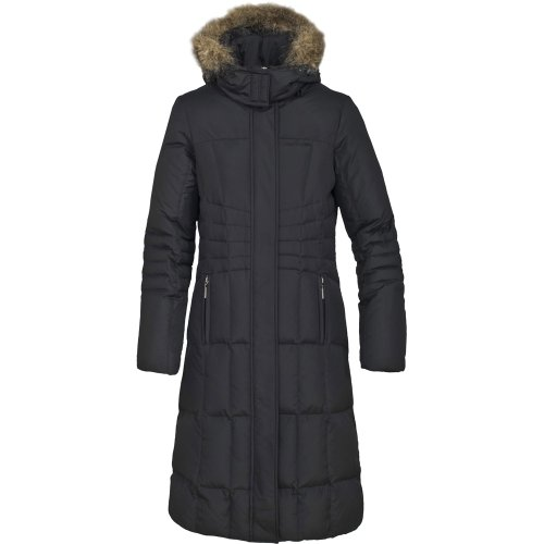 Trespass Ladies Ladna Long Length Down Jacket Coat Black