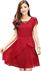 Top{(Choice Fashion_102059_Red_Georgette Women's Top)}