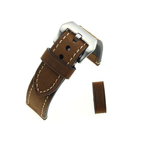 marron-crazy-caballo-de-cuero-aspero-grueso-reloj-de-pulsera-banda-de-reloj-de-repuesto-22mm