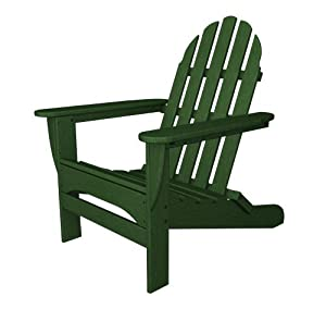 Recycled Plastic Adirondack Chair by Polywood Frame Color: Hunter Green