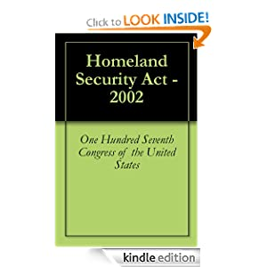 Homeland Security  2002 on Homeland Security Act   2002  One Hundred Seventh Congress Of The
