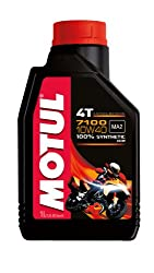 Motul 104091 7100 4T Fully Synthetic 10W-40 Petrol Engine Oil for Bikes (1 L)