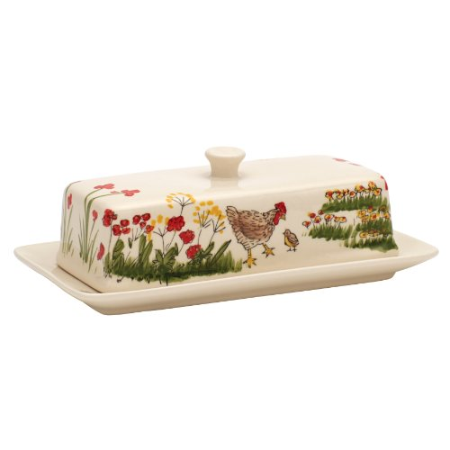 Paula Deen Signature Dinnerware Southern Rooster Collection Covered Butter Dish