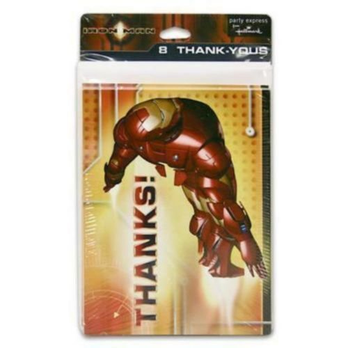 Iron Man Thank You Notes w/ Envelopes (8ct)
