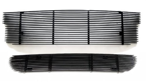 99-03 Ford F-150 Lightning Black Billet Grille Grill Combo Insert (Svt Lightning Front Bumper compare prices)