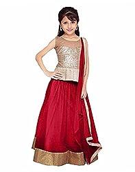 Surat Tex Maroon Color Party Wear Semi-Stitched Embroidered Soft net Lehenga Choli With Heavy Designer Brocket Top-J348LA4