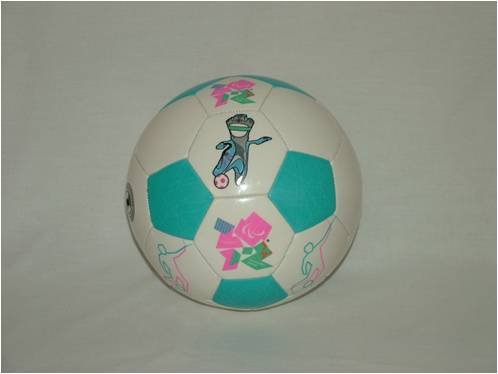 London 2012 Olympic 32 Panel Mascot Football Size5 White/Blue