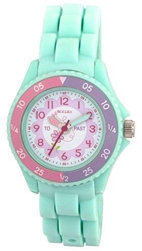 tikkers-enfant-fille-aqua-vert-en-silicone-theme-fleurs-temps-professeur-montre-dapprentissage-ntk00