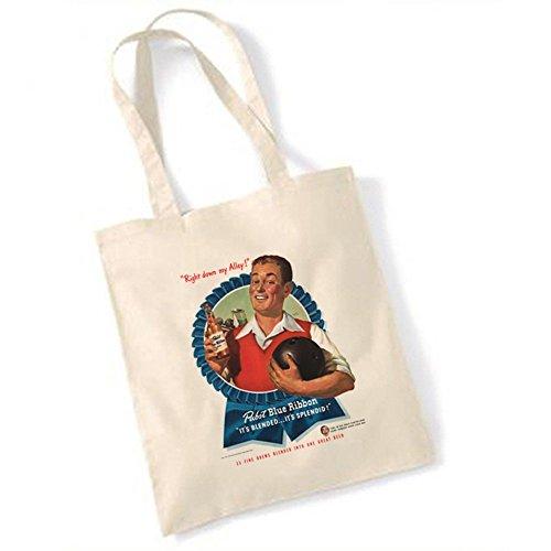 pabst-ruban-bleu-biere-publicite-1947-10-broches-de-bowling-sac-fourre-tout