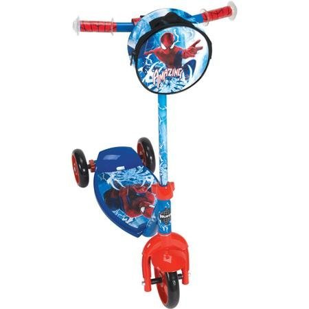 New Huffy Marvel Amazing Spider-man 3-wheel Preschool Kick Scooter Blue