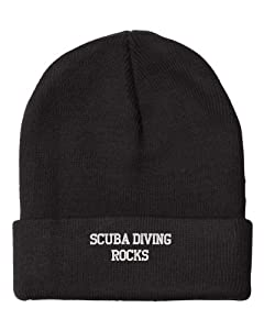 Fastasticdeal Scuba Diving Rocks Embroidered Beanie Cap