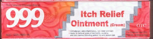 999 Itch Relief Ointment Cream - 20 g x 3 Pak - (Skin Itchness Relief OTC formula)