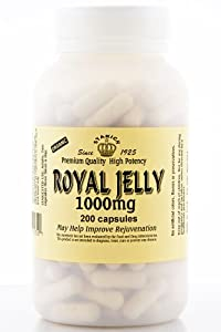 Stakich ROYAL JELLY Capsules (200 CAPS, 1000 MG) - Premium Quality, High Potency -
