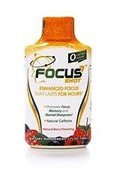 Focus7 Shot, 12 Count, Natural Berry Flavor Focus and Energy Shot w/ Antioxidants, Amino Acids, B-Vitamins, Nootropics. No Sugar, No Calories. Green Tea Extract, Natural Caffeine.