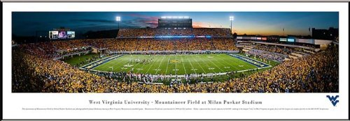 West Virginia Mountaineers - Milan Puskar Stadium - Framed Poster Print