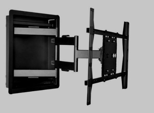 "Universal Mounts Iw-80 Flush In Wall Recessed Articulating Mount (0.9"" - 26.8"" Extension, Fits Led, Lcd Tvs 42"" - 80"") Holds Up To 175 Lbs"