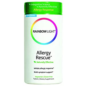 Rainbow Light Allergy Rescue Food-Based Dietary Supplement Tablets, 60 Count Bottle