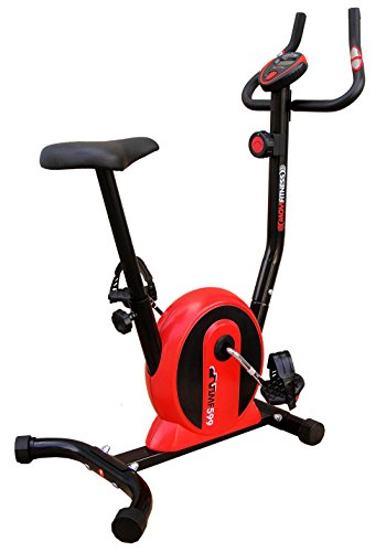 Movi Fitness MF599 Cyclette Magnetica, Nero/Rosso