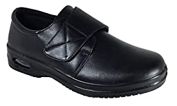 Mens Oil Resistant Anti Slip Restaurant Working Shoes With Air (Acco)) (10.5, Velcro)