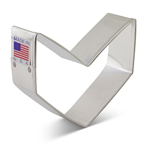 Ann Clark Single Chevron Arrow Cookie Cutter - 3 Inches - US Tin Plated Steel (Arrow Cookie Cutter compare prices)