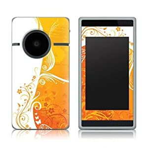 Orange Crush Design Protective Decal Skin Sticker (High Gloss Coating) for Flip SlideHD Digital Camcorder