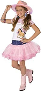 Planet Pop Star Cowgirl 3pc Girls Costume Pink Medium (8-10)