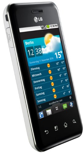 LG E720 Optimus Chic Smartphone (8,1 cm (3,2 Zoll) Display, Touchscreen, Android OS, 3,5 mm Klinkenanschluss,5 megapixels) wei