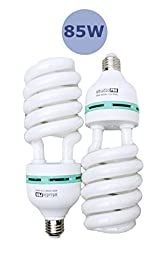StudioPRO 2x 85W CFL Photo Fluorescent Daylight Light Bulbs 5500K Color Temperature 2 Pack