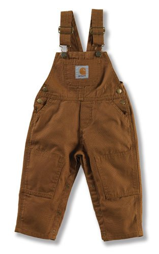 Carhartt Kids Cm8609 Infant'S Washed Bib Overall Carhartt Kids Brown 24 Months front-893038