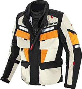 Spidi Sport S.R.L. Marathon H2Out Jacket , Size: Md, Gender: Mens/Unisex, Distinct Name: Black/Orange/White, Primary Color: Orange, Apparel Material: Textile D115-087-M