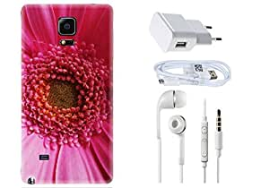 Spygen Samsung Galaxy Note 4 Combo of Premium Quality Designer Printed 3D Lightweight Slim Matte Finish Hard Case Back Cover + Charger Adapter + High Speed Data Cable + Premium Quality Handfree